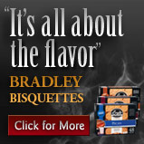 All about the flavour - click to learn more about Bradley Bisquettes